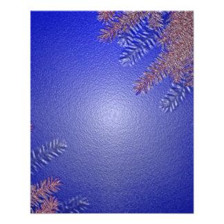 Weihnachtspoinsettia-Blau II Flyer