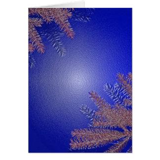 Weihnachtspoinsettia-Blau Karte