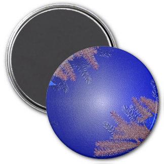 Weihnachtspoinsettia-Blau Kühlschrankmagnet