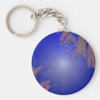 Weihnachtspoinsettia-Blau Schlüsselanhänger