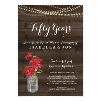 Weihnachtspoinsettia-Jahrestags-Party Einladung