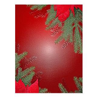 Weihnachtspoinsettia-Rot Postkarten