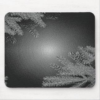 Weihnachtspoinsettia schwarz und Grau I Mauspad