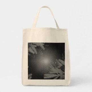 Weihnachtspoinsettia schwarz und Grau III Einkaufstaschen