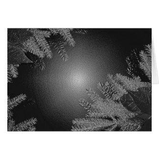 Weihnachtspoinsettia-Schwarzes und Grau Grußkarten