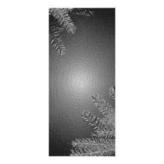 Weihnachtspoinsettia-Schwarzes und Grau Werbekarte
