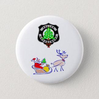 Weihnachtspolizei-Geschenke Runder Button 5,7 Cm