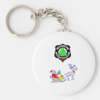 Weihnachtspolizei-Geschenke Schlüsselanhänger