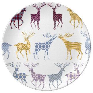 Weihnachtsporzellan-Platte mit Weihnachtsrotwild Teller Aus Porzellan
