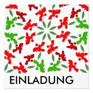 Weihnachtspudel Personalisierte Einladungskarte