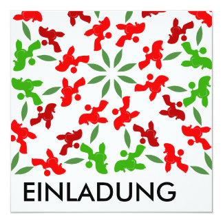 Weihnachtspudel Quadratische 13,3 Cm Einladungskarte