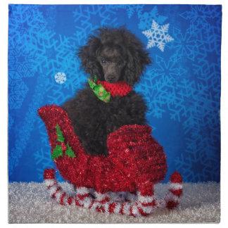 Weihnachtspudel Serviette