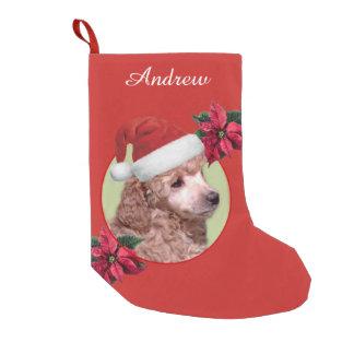Weihnachtspudelhundepersonalisierter Strumpf Kleiner Weihnachtsstrumpf