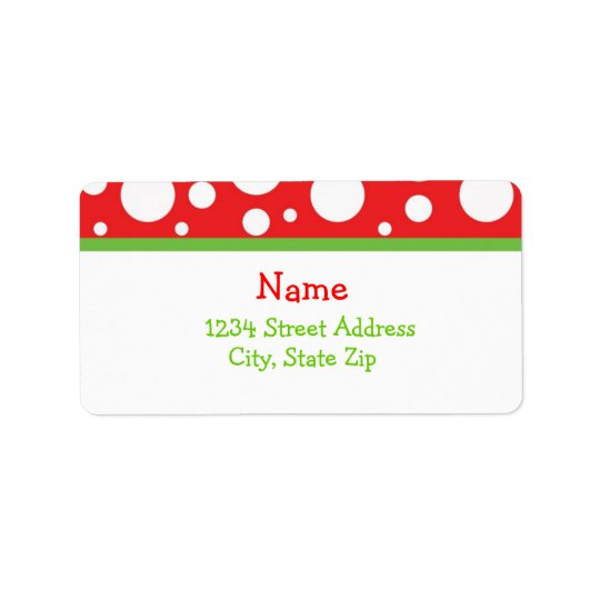 Weihnachtspunkt-Adresse Lables Adressetikett