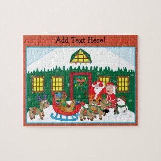 Weihnachtspuzzlespiel personifizieren puzzle