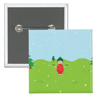 Weihnachtsquadratischer Knopf Quadratischer Button 5,1 Cm