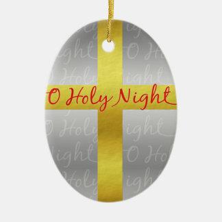Weihnachtsqueres hübsches christliches religiöses ovales keramik ornament