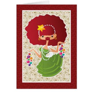 WeihnachtsRedhead Grußkarte