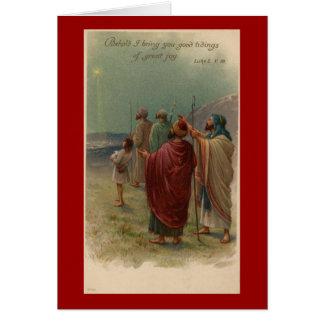 Weihnachtsreligiöse Schäfer-Gruß-Karte Karte