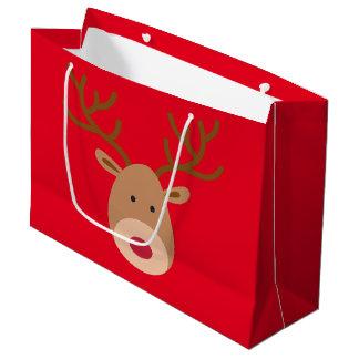 Weihnachtsren-glatte Geschenk-Tasche Große Geschenktüte