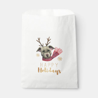 Weihnachtsren-Grube Stier mit Geschenktütchen