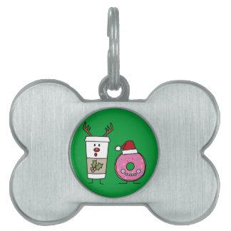Weihnachtsren-Kaffee und Sankt-Krapfen Tiermarke