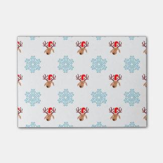 Weihnachtsren-Muster Post-it Klebezettel
