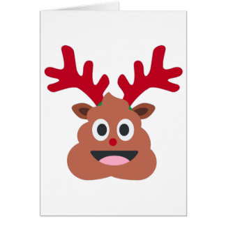 Weihnachtsren poo emoji karte