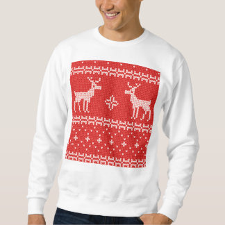 Weihnachtsren-Pullover-Strick-Muster Sweatshirt