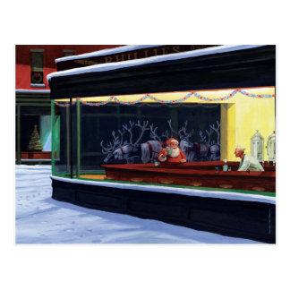 Weihnachtsrestaurant-Postkarte Postkarte
