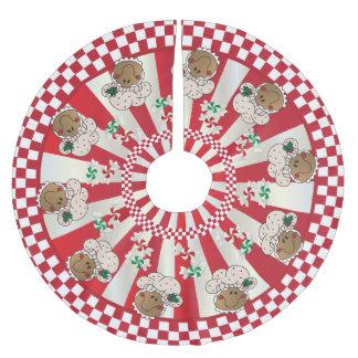 WeihnachtsRetro Lebkuchen-Bäcker Polyester Weihnachtsbaumdecke