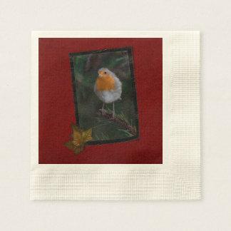 Weihnachtsrobin-Servietten Papierserviette