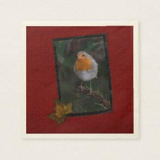 Weihnachtsrobin-Servietten Papierservietten