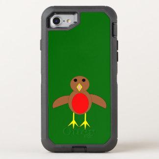Weihnachtsrobin-Telefon OtterBox Defender iPhone 8/7 Hülle
