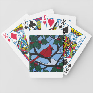 Weihnachtsrot-Kardinal Bicycle Spielkarten