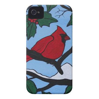 Weihnachtsrot-Kardinal iPhone 4 Hüllen