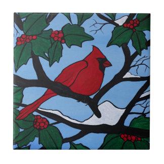 Weihnachtsrot-Kardinal Keramikfliese