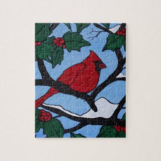 Weihnachtsrot-Kardinal Puzzle