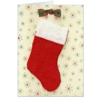 Weihnachtsrot-Strumpf Karte