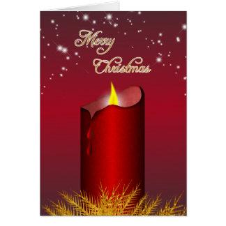 Weihnachtsrote Kerzen-Gruß-Karte Karte