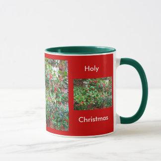 Weihnachtsrote Stechpalmen-Tasse Tasse