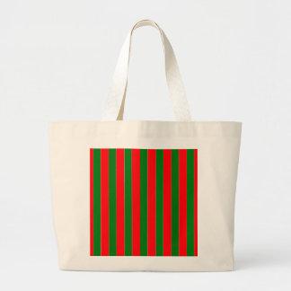 Weihnachtsrote und grüne Zuckerstange-Streifen Jumbo Stoffbeutel