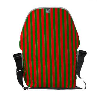 Weihnachtsrote und grüne Zuckerstange-Streifen Kurier Tasche