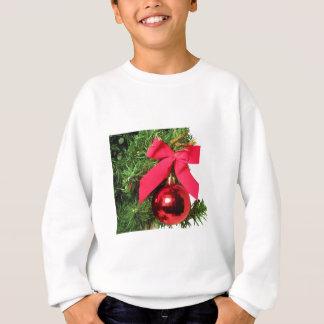 Weihnachtsroter Bogen und -verzierung Sweatshirt