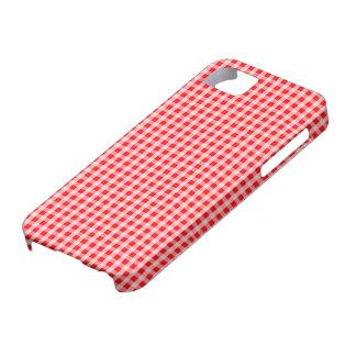 Weihnachtsroter Gingham-Karo-kariertes Muster Etui Fürs iPhone 5