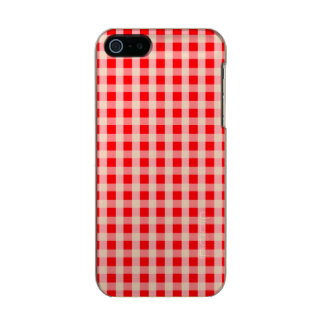 Weihnachtsroter Gingham-Karo-kariertes Muster Incipio Feather® Shine iPhone 5 Hülle