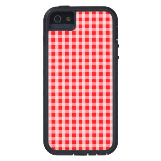 Weihnachtsroter Gingham-Karo-kariertes Muster iPhone 5 Cover