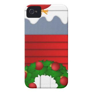 Weihnachtsroter Kardinal, der auf Birdhouse sitzt Case-Mate iPhone 4 Hülle