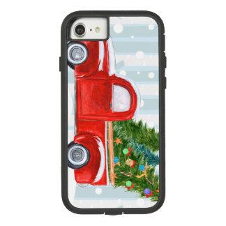 Weihnachtsroter Lieferwagen-LKW auf einer Case-Mate Tough Extreme iPhone 8/7 Hülle