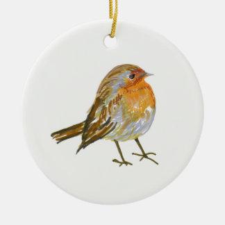 Weihnachtsrotkehlchen Keramik Ornament